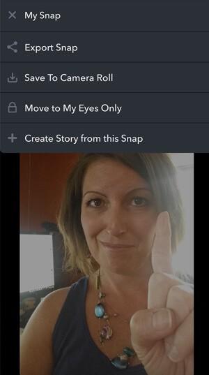 create snapchat memory