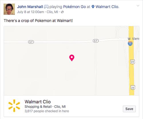 pokemon go social check in