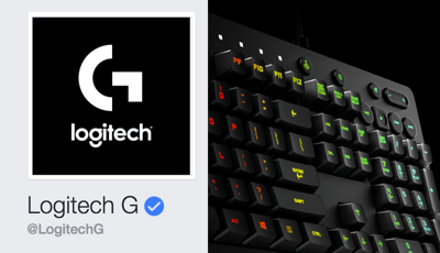 The blue verified badge on Logitech's Facebook page helps build trust with page visitors.