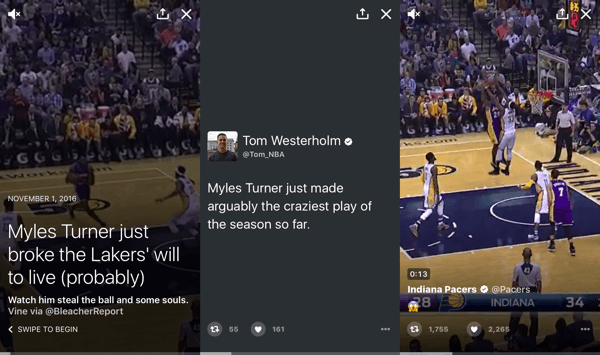 Using video in your Twitter moment can help boost engagement and improve results.