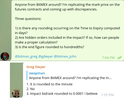Trading – Examining the Accuracy of Mark Price Data on BitMEX
