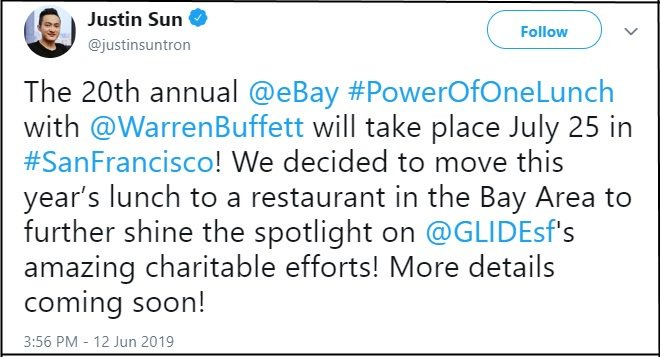 Justin Sun Warren Buffett